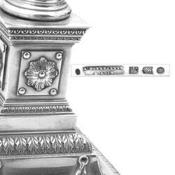 Antieke zilveren kandelaars A. Bonebakker Amsterdam 1895