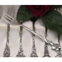 zilveren Gebakvorkjes bloem