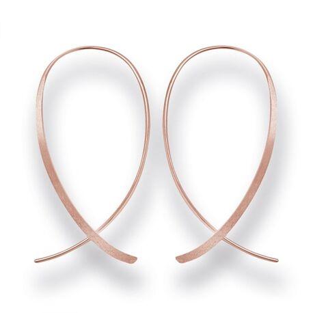 Roséverguld zilver doortrek oorbellen gematteerd
