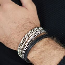 Silk zilveren Linked armband 115