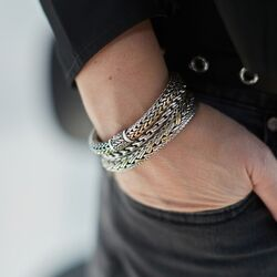 Silk RAW armband bicolor 281