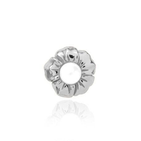 Christina zilveren charm Pearl Flower 650-S08