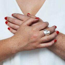 Lapponia zilveren ring Origami