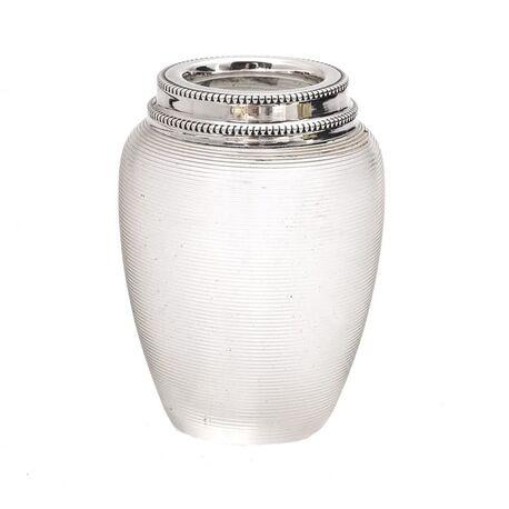 Uniek een klein lepelvaasje draadglas
