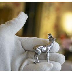 Miniatuur zilveren hert occasion