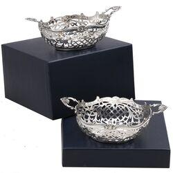 Stel zilveren bonbonmandjes De Zilverfabriek 1927