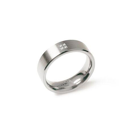 Boccia Titanium ring met 4 diamanten 0101-12