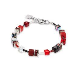 Coeur de Lion armband rood 4014-30-0312