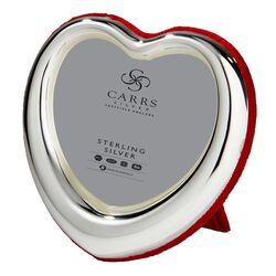 Fotolijst hart zilver rood velours Carrs ht01/r