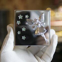 Verzilverde spaarpot sprookjes fee prinses met glinsterende sterren Reed & Barton