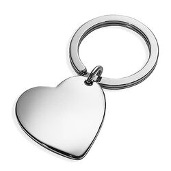 Sleutelhanger hart zilver Carrs Key3/H1