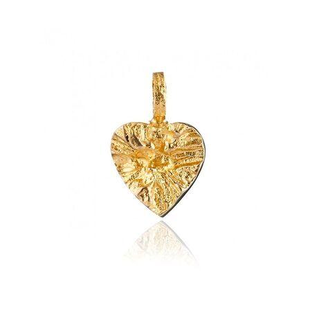 Lapponia geelgouden hart hanger Sydän 120010