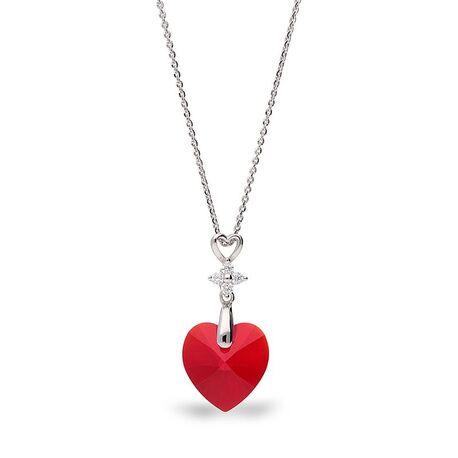 Spark Petite Heart necklace rood swarovski crystal NC622814LSI