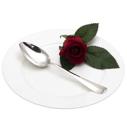 Dessertlepel haags lofje zilver