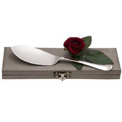 Grote Haags lofje zilveren taartschep