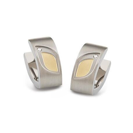 Boccia ovale creolen tulp bicolor diamant 05009-03