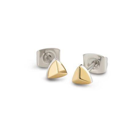 Boccia vergulde driehoek oorstekers 05015-02