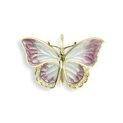 gouden hangertje vlinder emaille briljantjes Nicole Barr