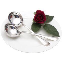 stel 1e gehalte zilveren juslepels van Helweg
