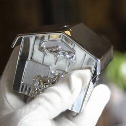 Zilveren spaarpot boerenschuur van Zilverstad 6158061