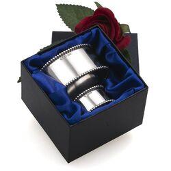 parelrand zilveren servetring met vingerdoekring occasion