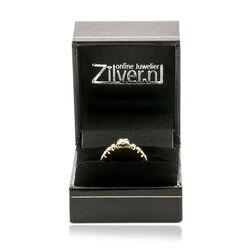 Geelgouden ring diamant, occasion