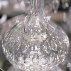 zilver decanteerlabel vermouth antiek zilver