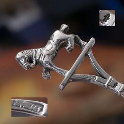 Zilveren pijpenwroeter 19e eeuw paard
