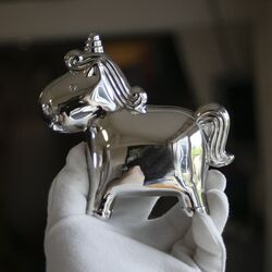 Zilverkleurige eenhoorn spaarpot van Zilverstad 6164061