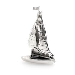 miniatuur zilveren zeilboot antiek look