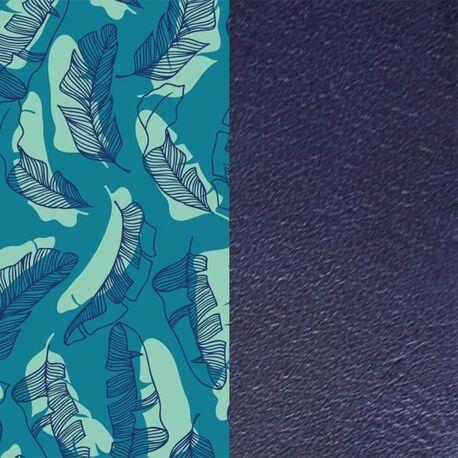 Les Georgettes 25 mm inlay blauwe veren