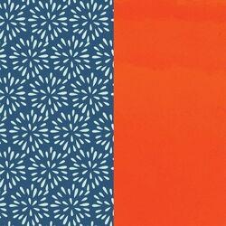 Les Georgettes 14 mm inlay blauwe pluimen oranje