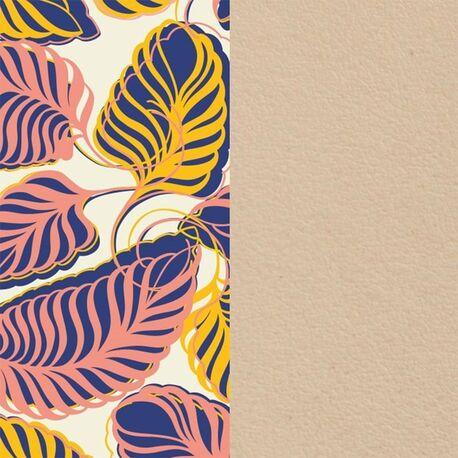 Les Georgettes 14 mm inlay beige bladeren