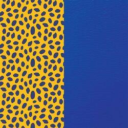 Les Georgettes 14 mm inlay cheetah royal blauw