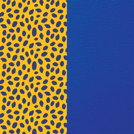 Les Georgettes 25 mm inlay cheetah royal blauw