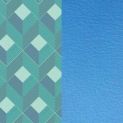 Les Georgettes 40 mm inlay lijnen korenbloem blauw
