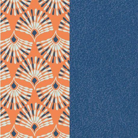 Les Georgettes 14 mm inlay pauw oranje blauw
