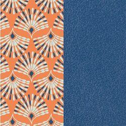 Les Georgettes 25 mm inlay pauw patroon denim blauw