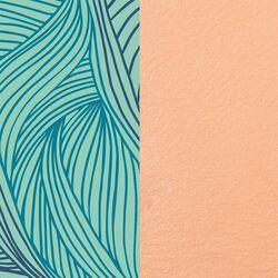 Les Georgettes 25 mm inlay licht blauw curve patroon beige