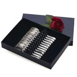 12 Espressolepeltjes van zilver model 250 glad