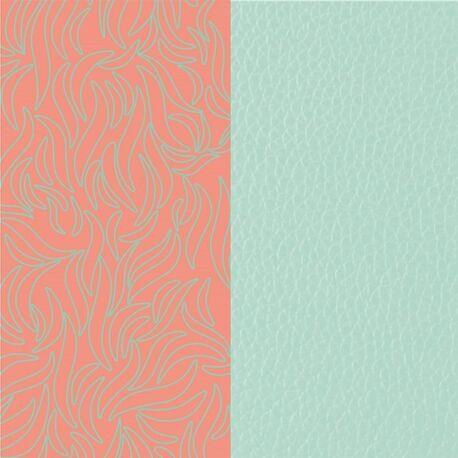 Les Georgettes 14 mm inlay Flora blauw oranje