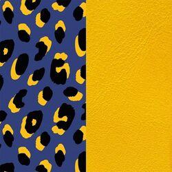Les Georgettes 40 mm inlay leeuw geel blauw