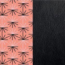 Les Georgettes 40 mm inlay Uitstraling roze zwart