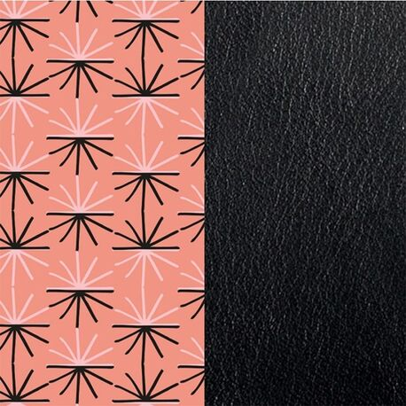 Les Georgettes 14 mm inlay Uitstraling zwart roze