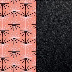 Les Georgettes 25 mm inlay roze zwart uitstraling