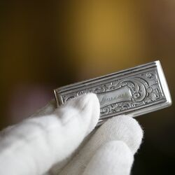 Antiek zilveren tondeldoosje van Dirk Verkerk