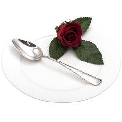 zilveren Dessertlepel parelrand 1928
