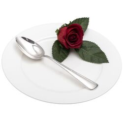 Zilveren dessertlepel parelrand 1923
