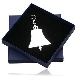 Zilveren kerstboomhanger bel