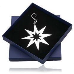 Zilveren kerstboom hanger ster